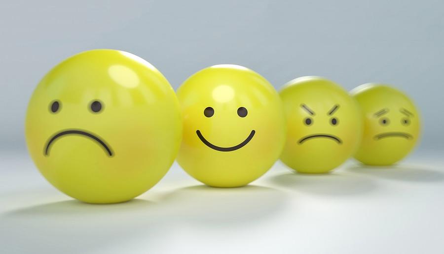 Afbeelding smilies verschillende emoties