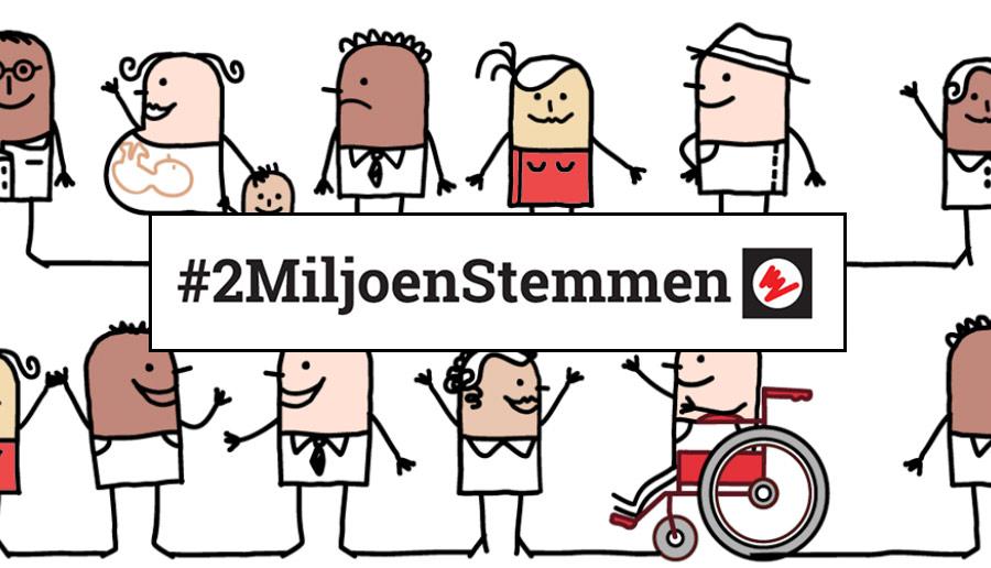 Doe mee aan #2MiljoenStemmen